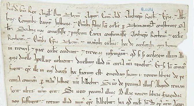 Le projet de corpus des chartes normandes SCRIPTA