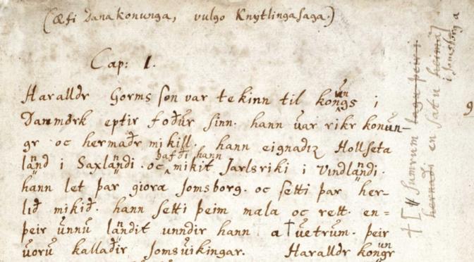 La saga des rois de Danemark – Knýtlinga saga